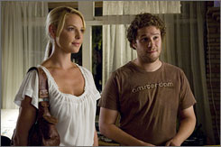 Joy of sex: Katherine Heigl and Seth Rogen in Knocked Up.