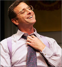 """My standup is very free associative. I let it come to me when it comes to me,"" Bob Saget said. ""This is a different muscle. What I love about The Drowsy Chaperone is that it is so well written. I don't want to change a word. Not even the commas."""