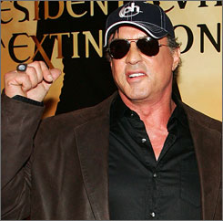 """I witnessed the aftermath  survivors with legs cut off and all kinds of land-mine injuries, maggot-infested wounds and ears cut off,"" Sylvester Stallone said. ""We hear about Vietnam and Cambodia and this was more horrific."""