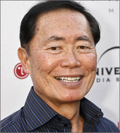 """I am now a heavenly body,"" said George Takei, known to millions of Star Trek fans as Lt. Sulu."