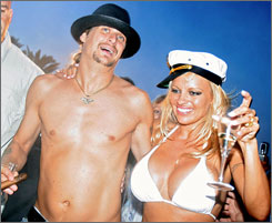 Pamela Anderson and Kid Rock were married for four months in 2006. She's since been linked to former Paris Hilton paramour Rick Salomon.