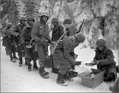 January 1945: In Belgium, Allied troops battled freezing temperatures and turned the tide against the Germans in Ken Burns' The War.