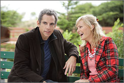 Love will keep us together?: Eddie (Ben Stiller) meets Lila (Malin Akerman), Eddie marries Lila, Eddie sings a different tune.