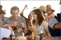 Very bad timing: Hapless honeymooner Ben Stiller finally meets the girl of his dreams (Michelle Monaghan) in The Heartbreak Kid.