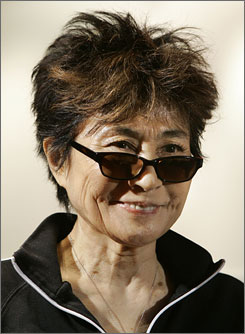 Yoko Ono will unveil her Imagine Peace Tower in Iceland on Tuesday, John Lennon's birthday.