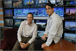 Reality machine: Jonathan Murray, left, and Gil Goldschein hang out on the set of The Real World: Los Angeles. The show's 20th edition airs next year.