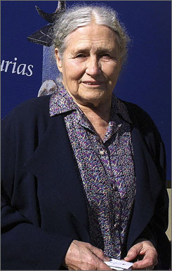 Doris Lessing, 87, has written several critically acclaimed books, including 1962's Golden Notebook and 1973's The Summer Before Dark.