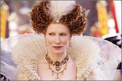 Regaled by regalia: Cate Blanchett reprises her role as the queen in the sequel to the 1998 biopic.