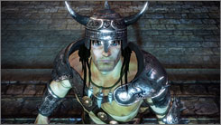 Gaming company THQ's new Conan is meant to  resemble artist Frank Frazetta's  famous paintings.
