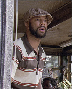 Rapper Common is in the upcoming film American Gangster with Denzel Washington.