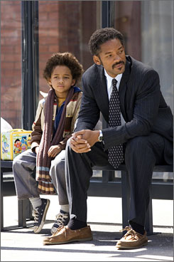 Critical acclaim: Will Smith, with his son Jaden, in The Pursuit of Happyness.