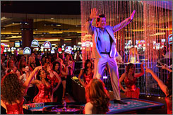 Casino king: Executive producer Hugh Jackman plays mogul Nicky Fontana in at least four episodes of Viva Laughlin.