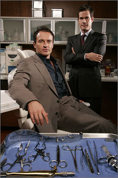 Looking good: Julian McMahon, left, and Dylan Walsh are energized by Nip/Tuck's move from Miami.