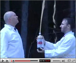 Stephen Voltz, left, and Fritz  Grobe have shot to fame with their Diet Coke plus Mentos bit.
