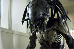 "A new creature: Meet the ""predalien,"" a hybrid of the alien and the predator that will feature prominently in Aliens vs. Predator."
