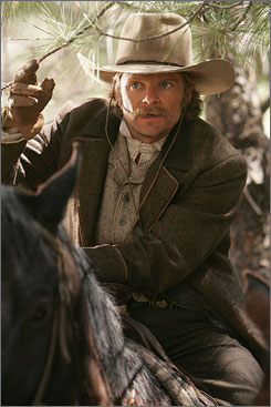 Tip your hat: Gus McCrae (Steve Zahn) pursues outlaws and protects settlers in Comanche Moon.