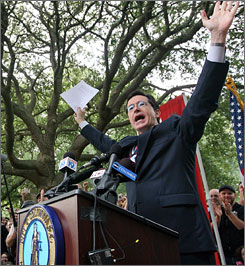"""I promise, if elected, I will crush the state of Georgia,"" cracked Colbert while addressing a crowd at the University of South Carolina. ""Our peaches are more numerous than Georgia's.They are more juiciful."""