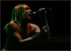 Iggy Pop: The punk legend performs with The Stooges on Saturday during the Vegoose Music Festival.