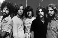 Already gone: The Eagles in 1977  Henley, left, Walsh, Randy Meisner, Frey and Don Felder. Timothy B. Schmit replaced Meisner; Felder was fired.
