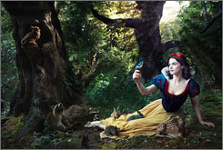 Rachel Weisz the fairest one of all as Snow White in the latest addition to the Disney Million Dreams campagin shot by photographer Annie Leibovitz.
