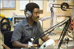 "Talk to Me: Disc jockey ""Petey"" Greene (Don Cheadle) becomes a voice of reason during a time of upheaval in Talk to Me."