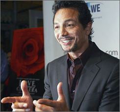 """Former Law & Order star Benjamin Bratt reveled in his Colombian experience.  """"It's a magical place. The people are incredible, so much history,"""" he recalls of his time filiming in Cartegna."""