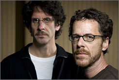 """Coen code of silence: Joel, left, and Ethan Coen's No Country for Old Men opens Friday. """"We figure most of what we do is going to be marginal,"""" Ethan says."""