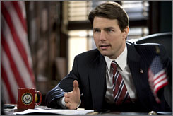 Smooth talker: Tom Cruise plays a senator in Robert Redford's Lions for Lambs.