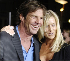 Dennis Quaid and his wife, Kimberly, welcomed a son, Thomas Boone, and a daughter, Zoe Grace, who were  born to a surrogate mother.