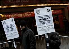 Picket line: You can't catch the Grinch at the St. James Theatre in New York.