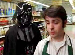 Using The Force: Grocery clerk Chad Vader is the brother of Darth. Eight episodes have been posted.