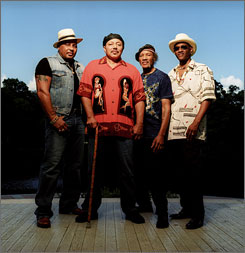 The Neville Brothers: Aaron, left, Art, Charles and Cyril will be Jazz Fest's closing act on May 4.