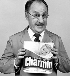 Toilet paper users of a certain age will remember Wilson as Charmin's proctector, Mr. Whipple.
