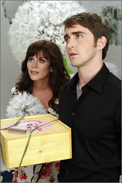 Look, don't touch: Anna Friel and Lee Pace star in ABC's whimsical Pushing Daisies, about a man (Pace) whose touch can bring death.