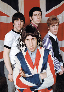 Amazing Journey: The Who, vintage 1968. Pete Townshend, front, and Roger Daltrey, right, survive. Keith Moon, left, died in 1978, and John Entwistle died in 2002.