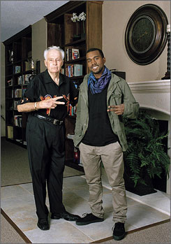 "Robert Craig ""Evil"" Knievel, left, and rapper Kanye West have settled a lawsuit regarding West's use of an image of the daredevil in a music video."