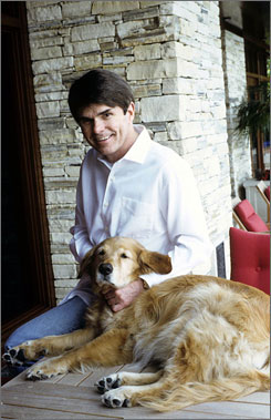 Koontz says he couldn't write for a month after his dog Trixie (pictured) died last summer.