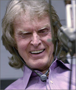 Don Imus put his headphones back on Monday after seven months off the air following his remarks about the Rutgers basketball team.