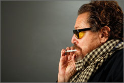 "Portrait of  the artist:  Julian Schnabel,  the director of  biopic The  Diving Bell and  the Butterfly, is  also a well-known  painter.  At 56, he  concedes: ""I'm  getting too old  to be an enfant  terrible."""