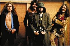 Led Zeppelin at the 1970 Bath Festival: Robert Plant, left, John Bonham, Jimmy Page and John Paul Jones.