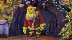 A present: ABC's holiday special Shrek the Halls comes in at No. 3.