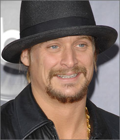 Kid Rock kicks off a stadium tour in 2008.