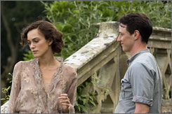 Love lost: Keira Knightley and James McAvoy are at the center of a quest for personal redemption in the film based on Ian McEwan's novel.