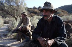 Daniel Day-Lewis stars as Daniel Plainview in There Will Be Blood.