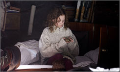 Not on point: Dakota Blue Richards is a girl on a mission in The Golden Compass.