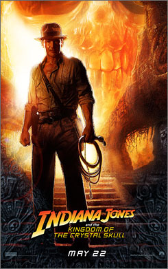 The movie poster for the fourth Indiana Jones installment, The Kingdom of the Crystal Skull, just went public.