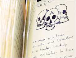 A handwritten book of stories entitled The Tales of Beedle the Bard, by author JK Rowling, sold for $3.97 million Thursday.