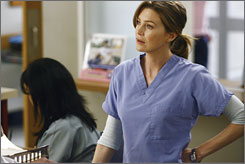 Running on empty: It could be an idle winter for ABC's Ellen Pompeo, left, who stars as Meredith Grey on Grey's Anatomy.