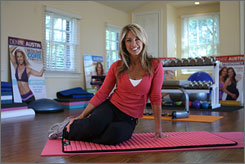 Workout space: Austin's home gym is a casual, homey place where she and her husband, Jeff, exercise every morning  but only for 30 minutes.