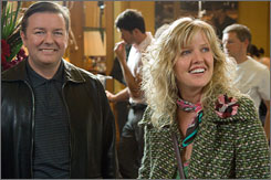 Speaking parts: Andy (Ricky Gervais) and Maggie (Ashley Jensen) wonder what the future holds.